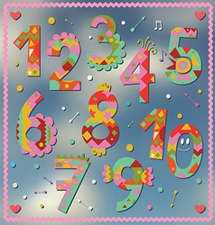 Holiday numbers design vector