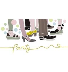 Party scene vector