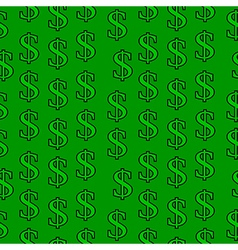 Dollar symbol seamless pattern vector