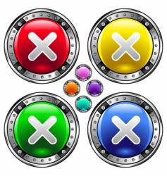 X icons vector