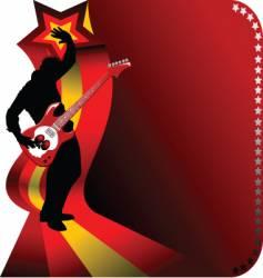 Guitarist vector