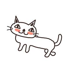A cat is standing vector