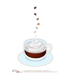 A cup of cafe breve with whipped cream vector