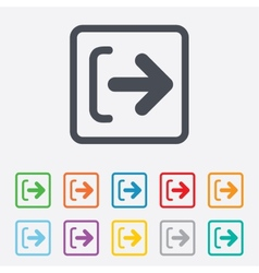 Logout sign icon log out symbol arrow vector