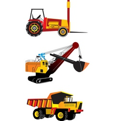 Heavy machinery vector