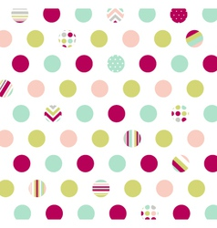 Polka dot fabric wallpaper vector