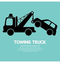 Car towing truck vector