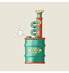 Original of a steampunk styled boiler vector