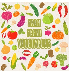 Farm fresh vegetables healthy food vector