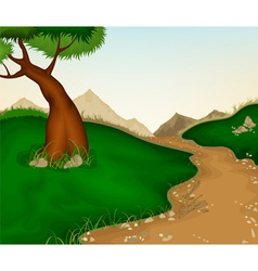 Landscape and nature background vector