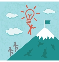 Idea success business concept vector