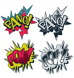 Bang pow comic style graphic vector