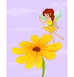 Fairy sunflower vector