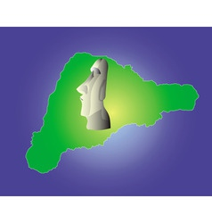 Easter island map vector