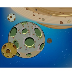 Planets in the universe cartoon vector