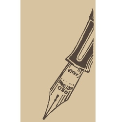 Vintage ink pen vector