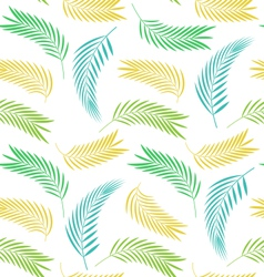 Seamless background with leaves of palm tree vector