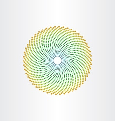 Abstract background circle with green dots vector