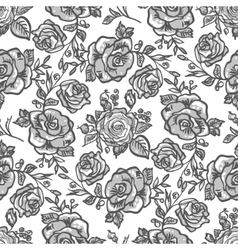 Pattern grey rose branch vector