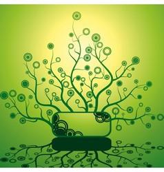 Futuristic bush vector