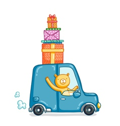 Gifts delivery vector
