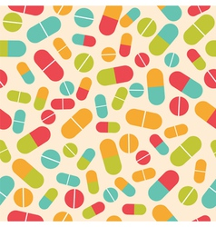 Pills collection medical pills and capsules vector
