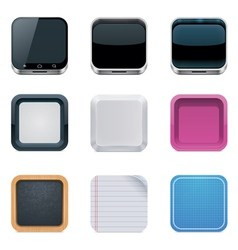 Backgrounds for square icons vector