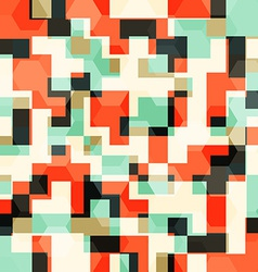 Abstract orange squares seamless pattern vector