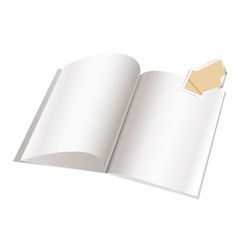 Magazine blank page template f vector