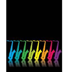 Sax rainbow vector