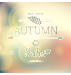 Autumn sale on defocused background eps 10 vector