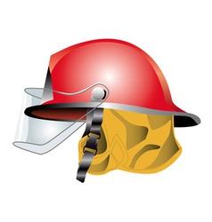 Fire helmet vector