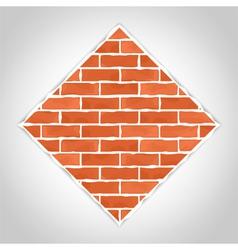 Romb made of bricks vector