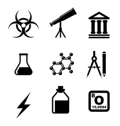 Science icons and symbols vector