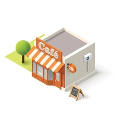 Isometric cafe vector