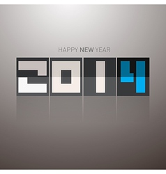 Abstract happy new year 2014 tile vector