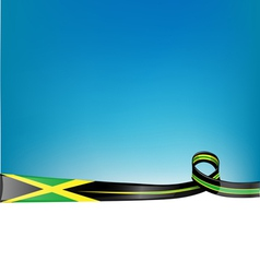Jamaica ribbon flag background vector
