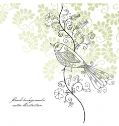 Bird background vector