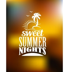 Sweet summer nights banner vector