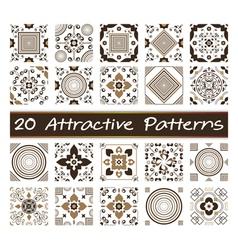20 attractive patterns art 02 vector
