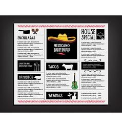 Restaurant cafe menu template design food flyer vector