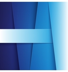 Blue paper diagonal layers with realistic shadows vector