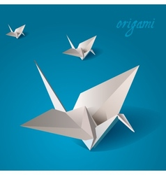 Crane bird origami vector