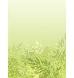 Fresh glowing spring plants vertical background vector