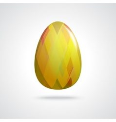 Golden easter egg vector