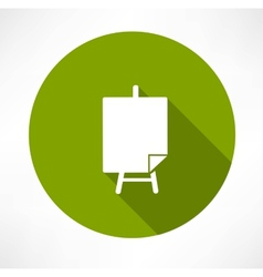 Poster stands icon vector