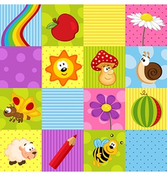 Colorful seamless pattern with squares vector