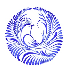 Floral decorative ornament bird of paradise vector