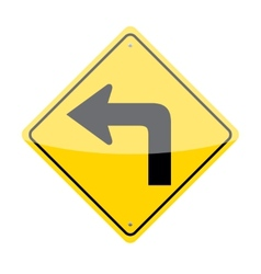 Left turn sign vector