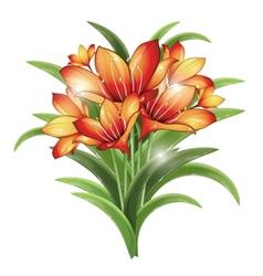 Bunch of orange lilies vector